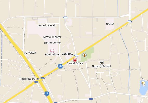 Isesaki SMARK Starbucks Coffee Japan - Isesaki map