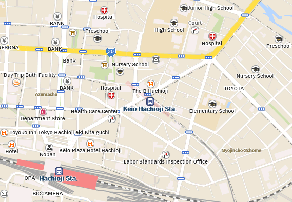 Keio Hachioji Station Building Starbucks Coffee Japan - Hachiōji map