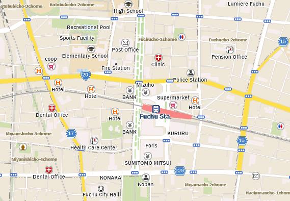 Keio Fuchu Station Building Starbucks Coffee Japan - Fuchu map
