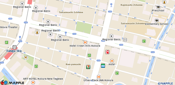 Kokura Japan Map.Kokura Tokyu Inn