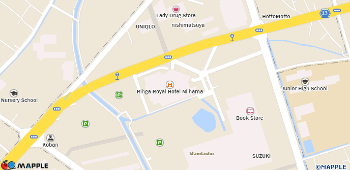 MDPCKknttourKvbkiTABemappleWHxyscl - Niihama map